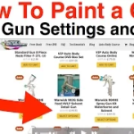 How To Paint a Car - Spray Gun PSI Settings and More!